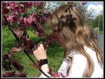 Con las flores