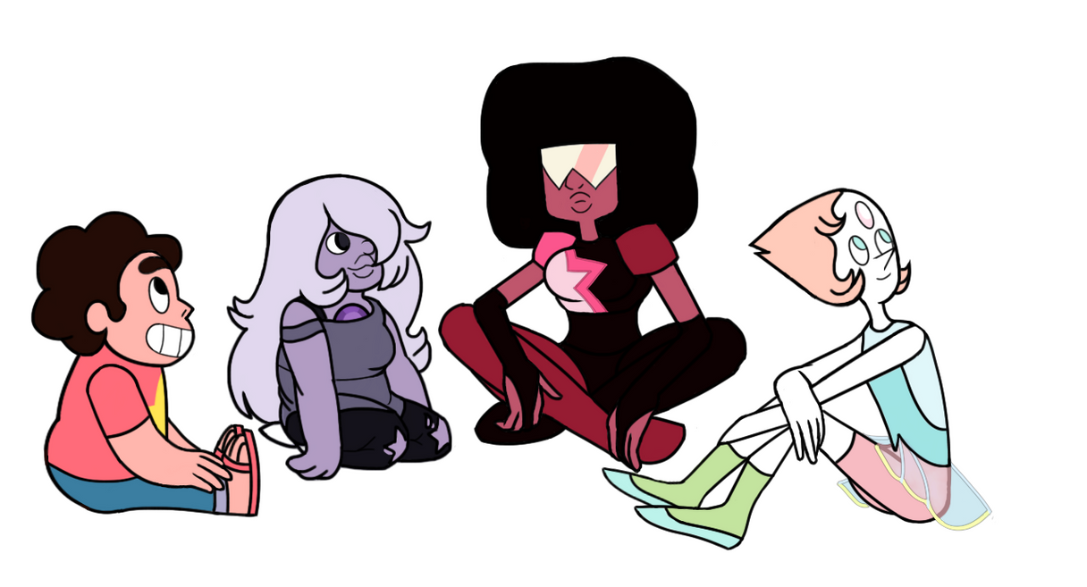 Steven Universe: The Crystal Gems and Steven by redmetz