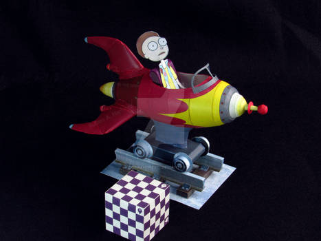 Rick and Morty rocket ride (paper model)