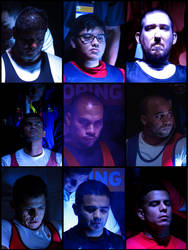 Concentration Faces of Parapowerlifting Athletes
