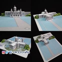 Moon Castle - paper model (scale 1:1000)