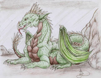 Green Dragon by PixyStix92
