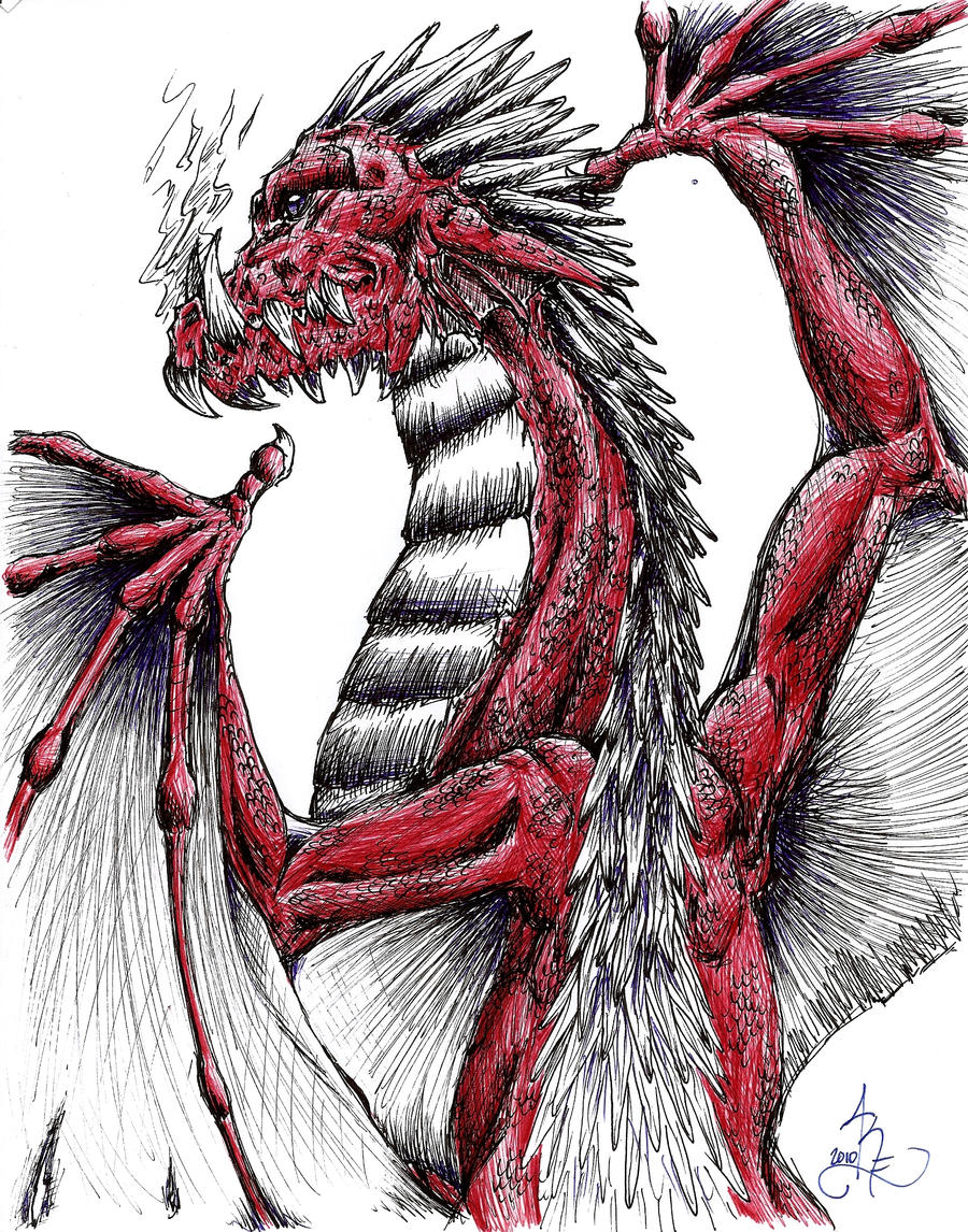 Red Dragon by ObsidianThorn