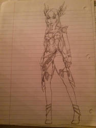 Elf Archer WIP by PixyStix92