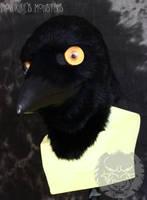 Divot crow grinning by fenrirschild