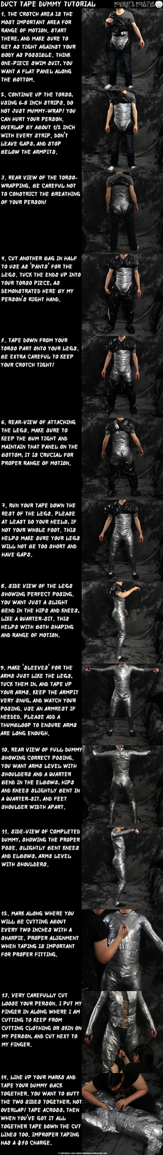 Duct Tape Dummy Tutorial by fenrirschild