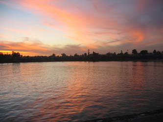 Sunset from SCZ Wharf by Vinator