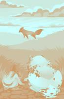 Crouching Fox Hidden Toko by sealle