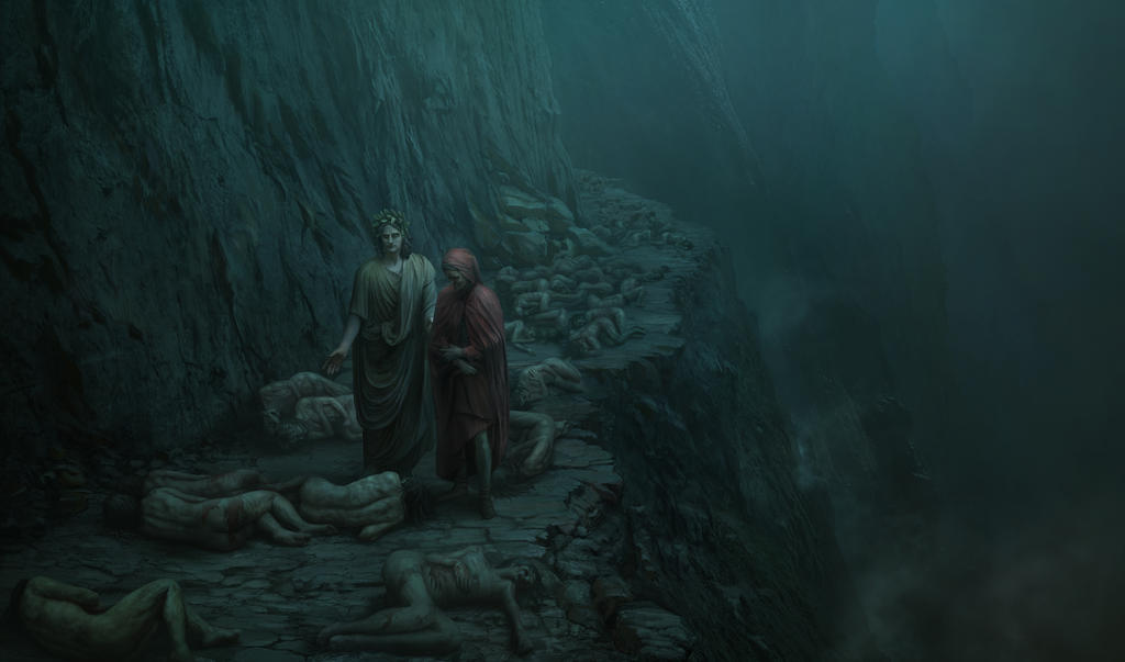 dante and virgil by H-i-ll