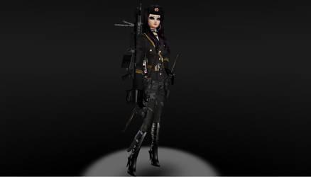 Veronica human form in uniform