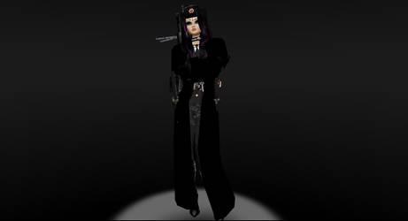 Veronica human in full uniform