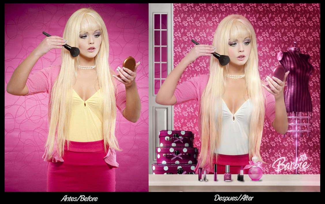 Antes y Despues Barbie by CrisestepArt