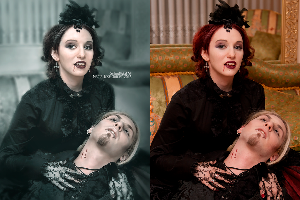 Before/after Vampire's Kiss by CrisestepArt