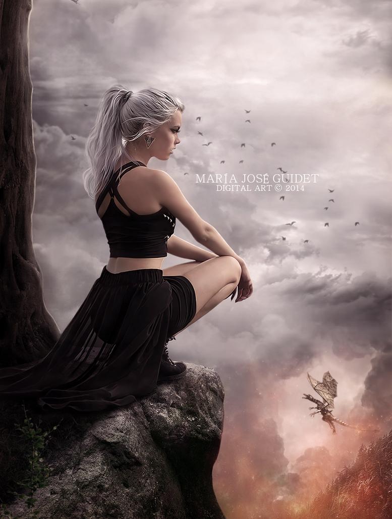 En tierra de dragones by CrisestepArt