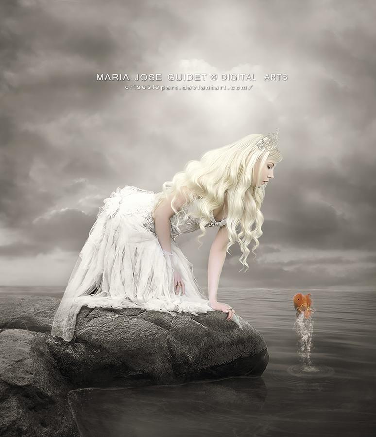 La princesa y el pez. by CrisestepArt