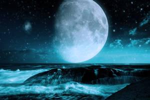 Sea in night by Vreckovka