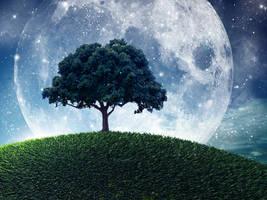 Tree at fantasy planet by Vreckovka