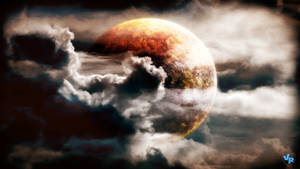 Planet in clouds by Vreckovka