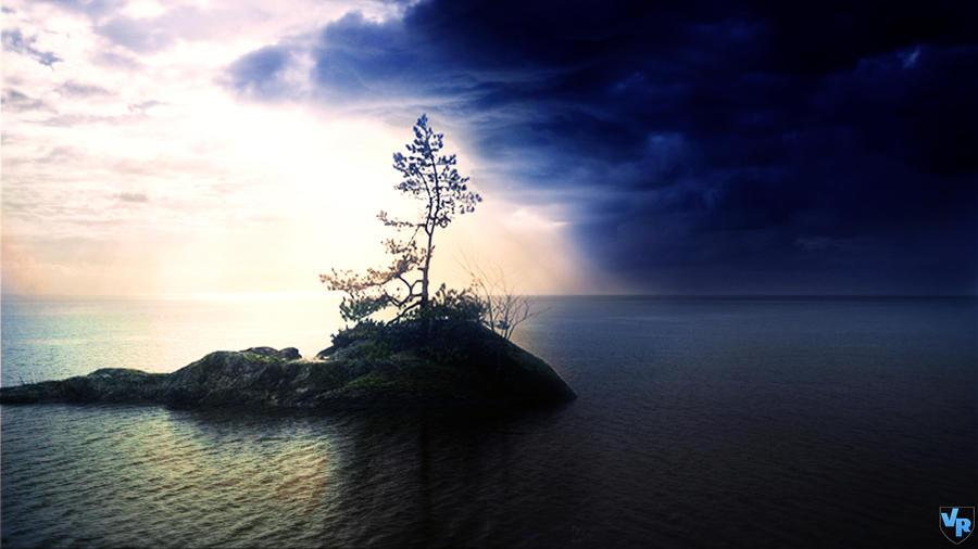 Alone island by Vreckovka