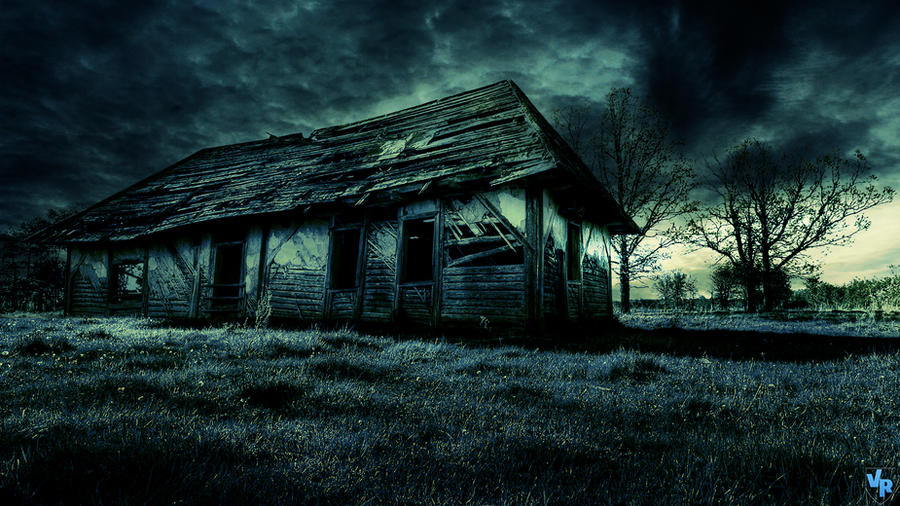 Dark old house by Vreckovka