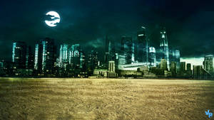 Night City in the desert by Vreckovka