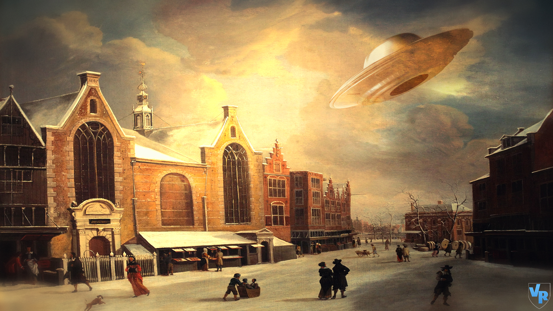 UFO at painting by Vreckovka