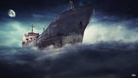 Ship in sky