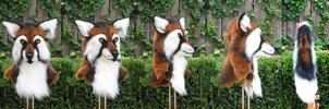Fox Panda Mask SOLD by FeralFacade