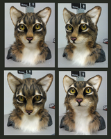 Realistic cat head FOR SALE by FeralFacade