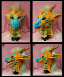 Orange dragon turnaround by FeralFacade