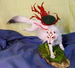 Okami Amaterasu OOAK Sculpture FOR SALE
