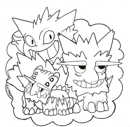 Pokemon Bunch Crunch by 1WinterHusky
