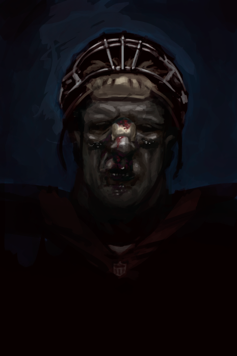 JJ Watt speed painting by gynemeth78