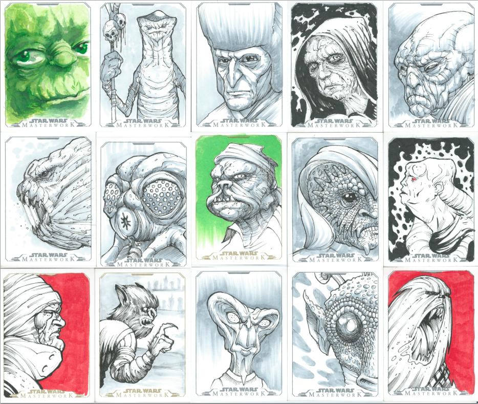Star Wars Masterwork sketchcards by gynemeth78