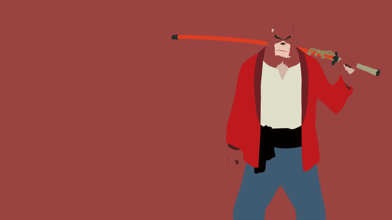 The Boy And The Beast Kumatetsu Minimalist By Xagnel95 On Deviantart