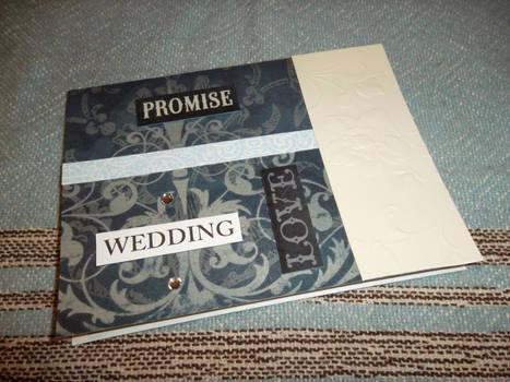 Something Blue - Vintage-Style Wedding Card