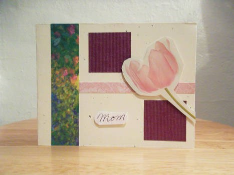Blocks and Flora Mother's Day Card