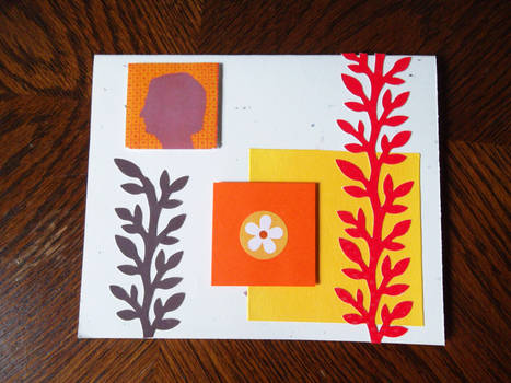Bright and Happy Cameo Mother's Day Card