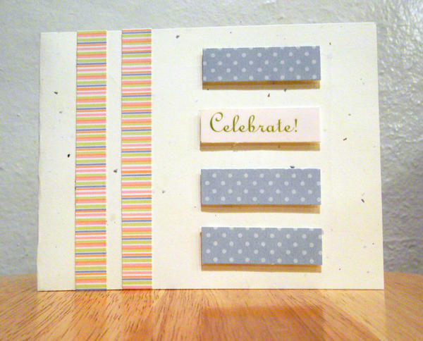 Pastel Mixed Patterns Birthday Card by CelidahD