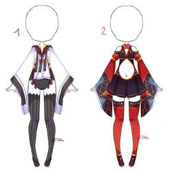 {Open 1/2} Auction Outfit 388 - 389 by xMikuChuu
