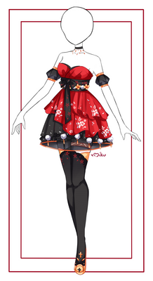 {Closed} Auction Outfit 526 + lineart