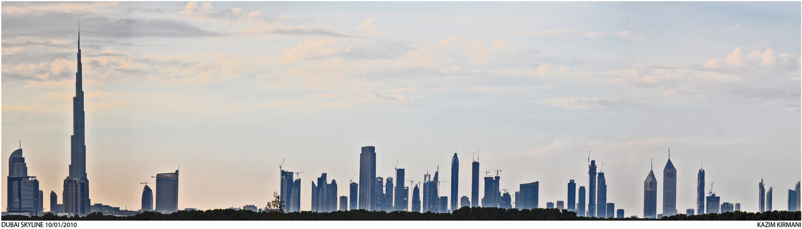 Dubai Skyline by kazimkirmani