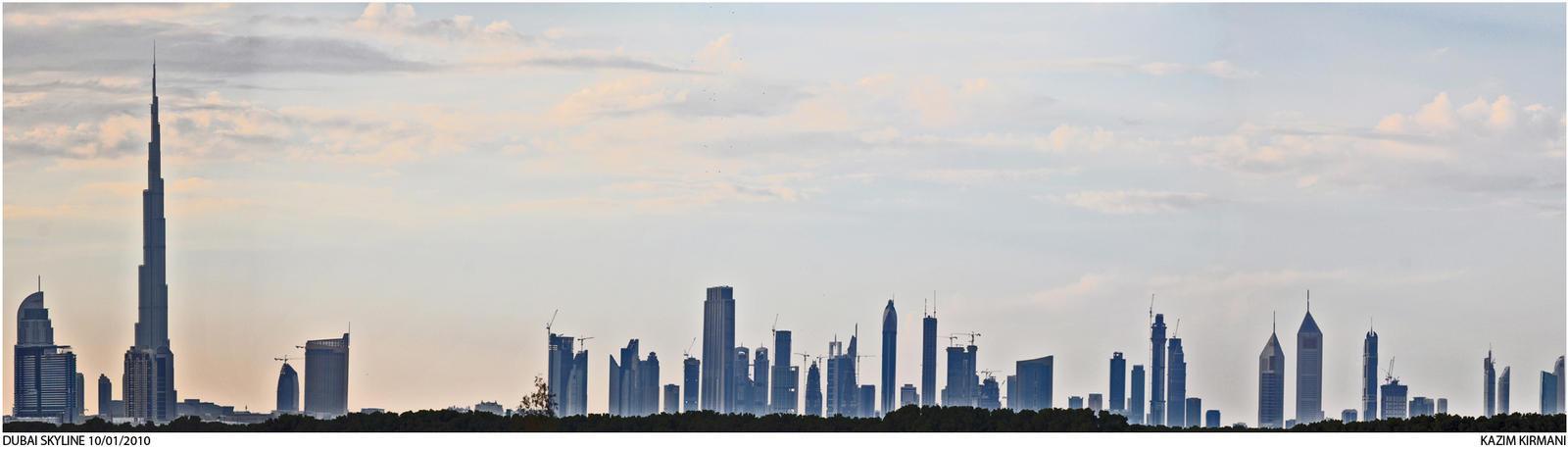 Dubai Skyline by kazimkirmani