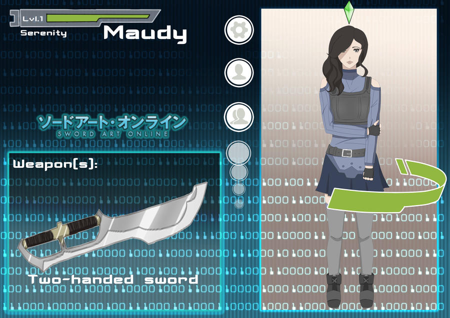 Sword Art Online App Maudy Aka Serenity By Mauvillain On