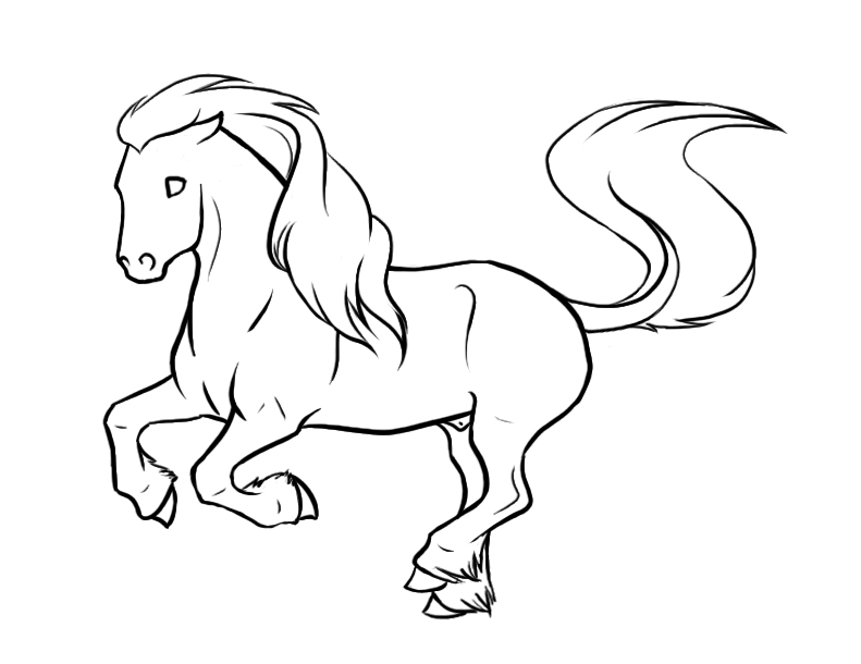 Unicorn Lineart : Unicorn lines by xredlily on deviantart