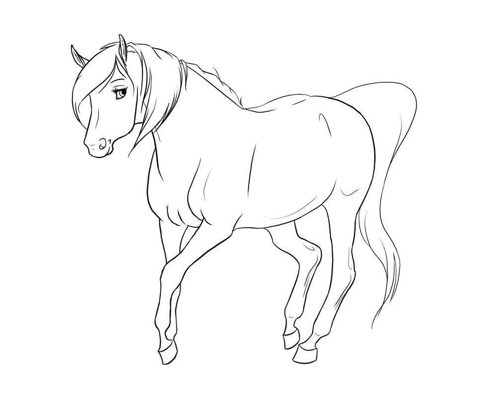 Mare Lineart By Xredlily On Deviantart