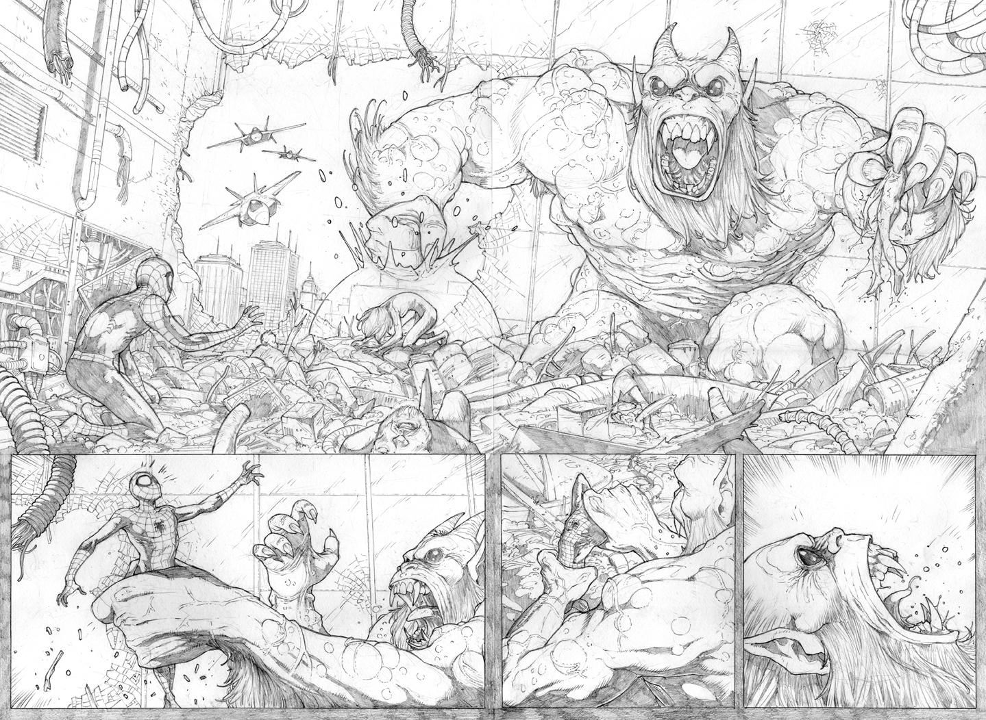 Ultimate Spider-Man sample pg8-9 by erdna1