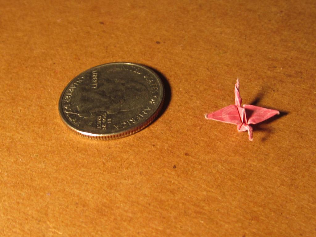 Mini Origami Crane 3 by Juicythepear on DeviantArt - photo#6