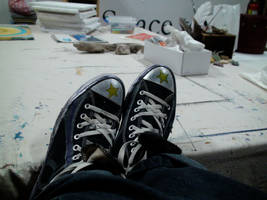 Pumped Up Kicks Top View by xcmer