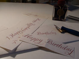 Drafting A Birthday by xcmer